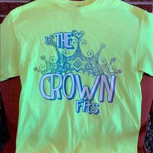 Princess t shirt size large bright neon yellow